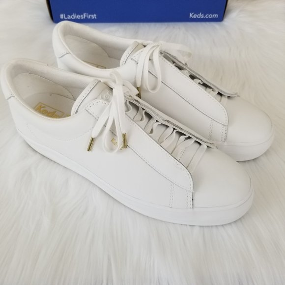 Keds Rise Metro Leather Sneakers Womens 10 M White
